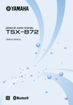 Yamaha TSX-B72 Owner`s manual