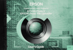 Epson PhotoPC PhotoPC Mac User`s guide
