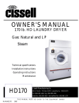 Cissell MANHD170 Owner`s manual