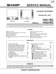 Sharp 14A1-RU Service manual