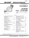Sharp FO-1600 Service manual