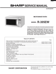 Sharp R-305EW Service manual
