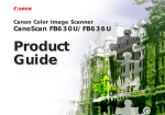 Canon CanoScan FB 630UI Product guide