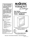 Vermont Castings 2823 Operating instructions