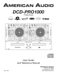 DCD-PRO1000 User Manual (4-15-05)