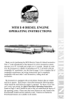 MTH Electric Trains E-8 Operating instructions