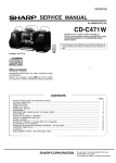 Sharp CD-C471 W Service manual