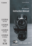 Canon LEGRIA HF R47 Instruction manual