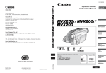 Canon MVX250 Instruction manual