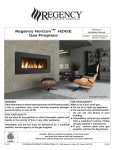 Regency Fireplace Products HZ42E-NG Installation manual