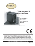 Vermont Castings The Aspen II 1405CE Specifications