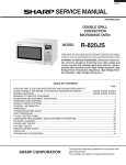 Sharp R-820JS - Foot Grill 2 Convection Microwave Service manual
