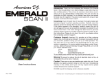 American DJ Emerald Scan Instruction manual