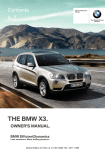 BMW X3 xDrive35i Owner`s manual