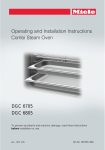 Miele DGC 6805 Operating instructions