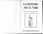 Yupiteru MVT-7100 Operating instructions