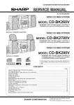 Sharp CD-BK260V Service manual