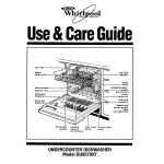 Whirlpool DU8570XT Operating instructions