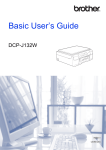 Brother DCP-J132W User`s guide