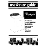 Whirlpool LE6400XP Operating instructions