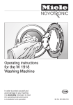 Miele W 1918 Operating instructions