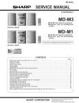Sharp MD-M3 Service manual