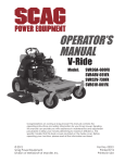 Scag Power Equipment SVR52V-730FX Operator`s manual