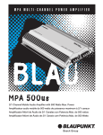 Blaupunkt MPA500 Specifications