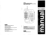 VTech 917ADX Operating instructions