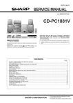 Sharp Actius PC-RD20 Service manual