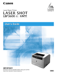 Canon LASER SHOT LBP-3600 User`s guide