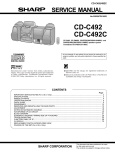 Sharp CD-C492C Service manual