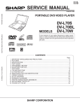 Sharp DV-L70S Service manual