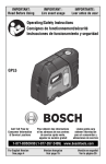 Bosch GPL5 Technical data