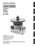 Craftsman 351.215000 Operator`s manual