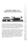 M.T.H. RAILKING 4-6-0 Operating instructions