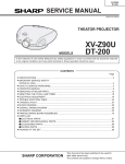 Sharp DT-200 Service manual