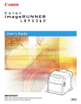 Canon imageRUNNER LBP5360 User`s guide