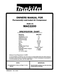 Makita MAC2200 Troubleshooting guide
