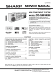 Sharp CD-SW440N Service manual