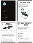Motorola H620 - Headset - Over-the-ear User`s guide