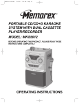 Memorex MKS5012 Operating instructions