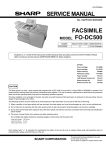 Sharp FO-DC500 Service manual
