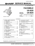 Sharp UX-B20 Service manual