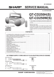Sharp QT-CD250H Service manual