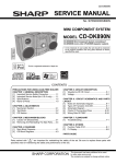 Sharp CD-DK890N Service manual