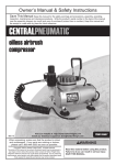 Central Pneumatic 93760 Owner`s manual