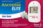 Bayer HealthCare Ascensia Elite XL User guide