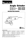 Makita 9526NB Instruction manual