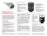 QuickGuide to Canon 320EX Speedlite Features